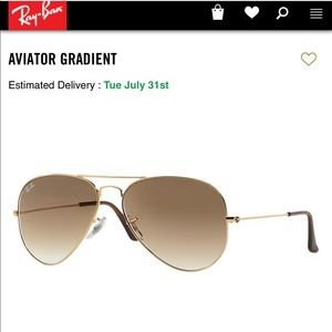 Ray-Ban Accessories - Ray Ban Aviator light brown gradient